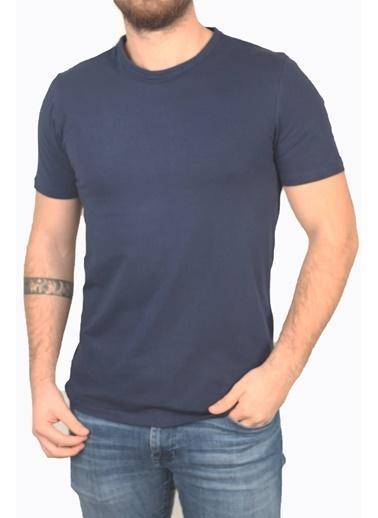 Derigo Lacivert Erkek Bisitlet Yaka T-Shirt 68503 Lacivert